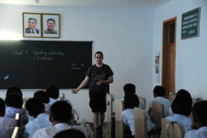 Kang Ban Sok Advanced Middle School English class Pyongyang