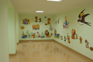 Okryu Children's Hospital wall picture Winnie the Pooh North Korea