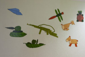 Okryu Children's Hospital wall picture weapons