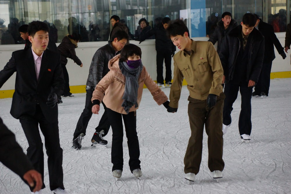 People's Outdoor Ice Skating Rink Pyongyang