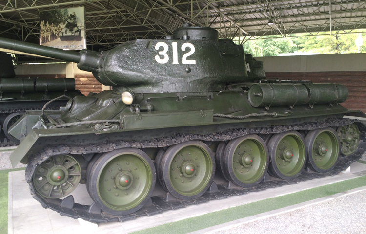 North Korean tank at Fatherland Liberation War Museum, Pyongyang DPRK