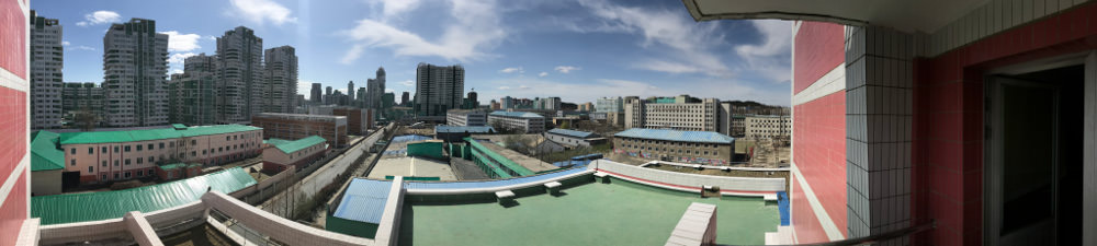 View from Kim Il Sung University Foreign Student Dormitory 2