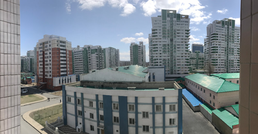 View from Kim Il Sung University Foreign Student Dormitory