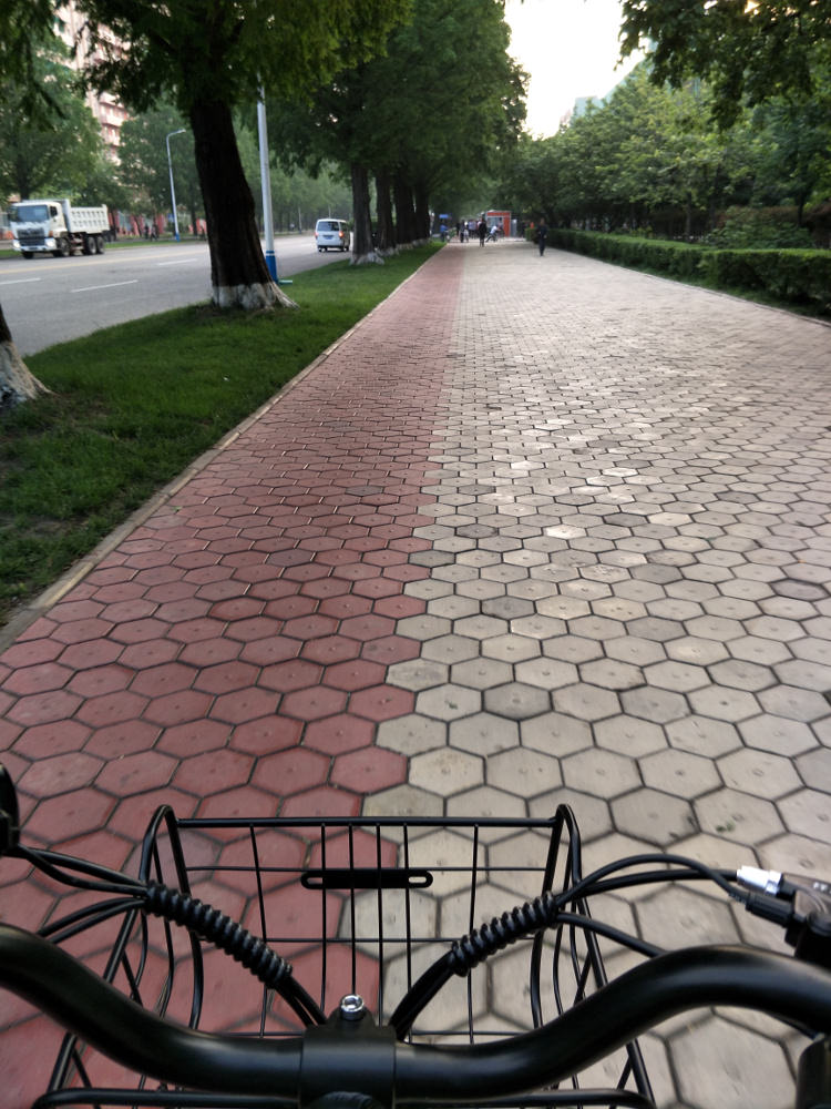 Cycling Somewhere in Pyongyang