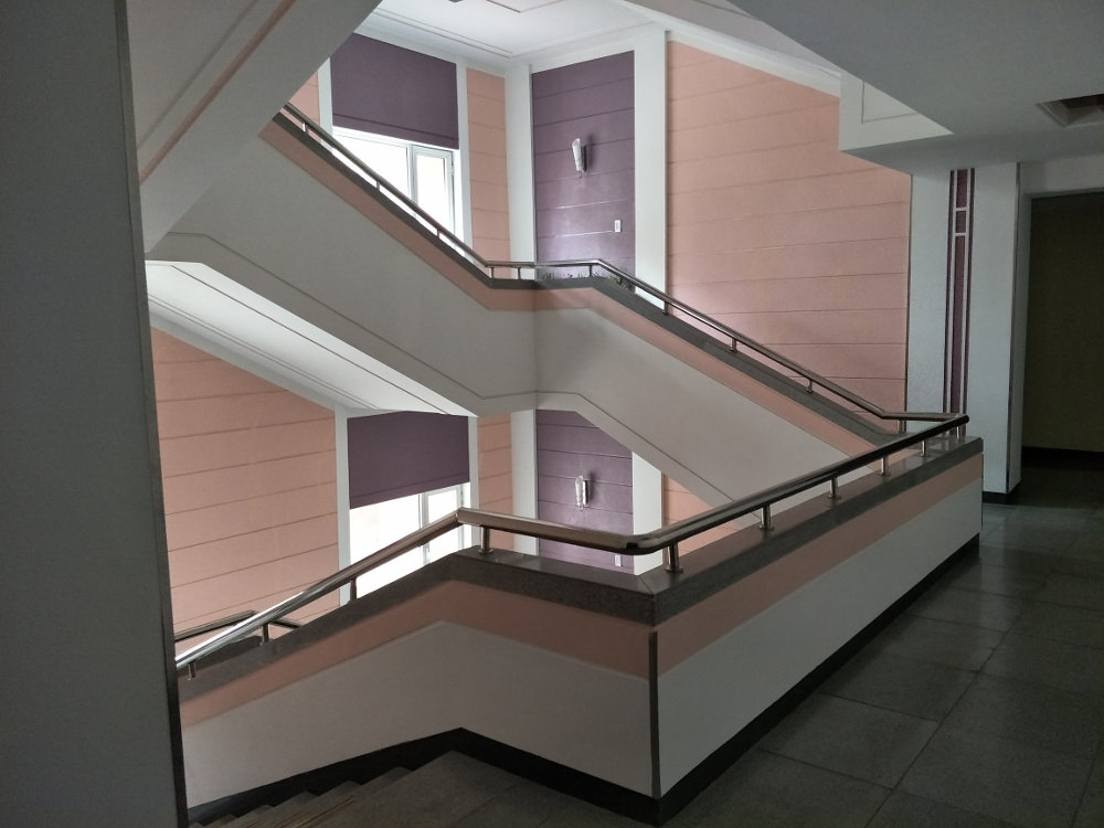 Kim Il Sung University Foreign Student Dormitory Central Stairwell 04