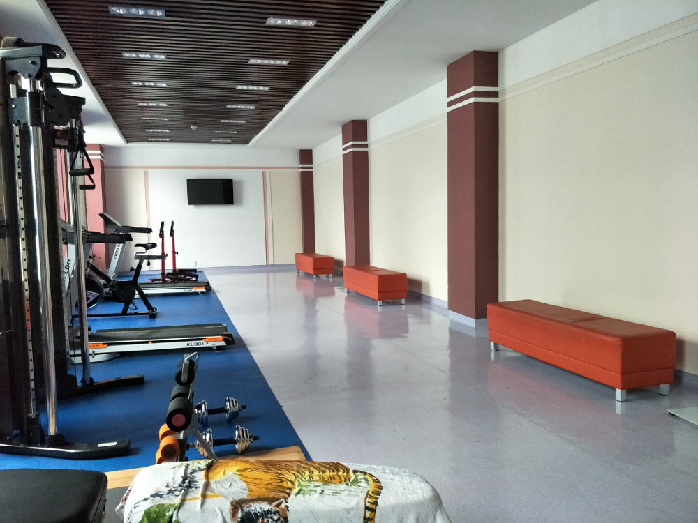 Kim Il Sung University Foreign Student Dormitory Gym 02