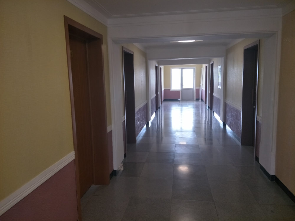 Kim Il Sung University Foreign Student Dormitory Hallway