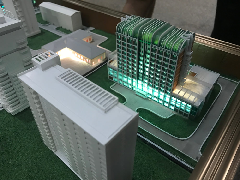 Kim Il Sung University Foreign Student Dormitory Model
