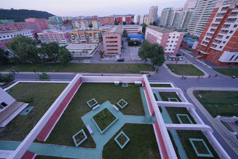 Kim Il Sung University Foreign Student Dormitory View 01