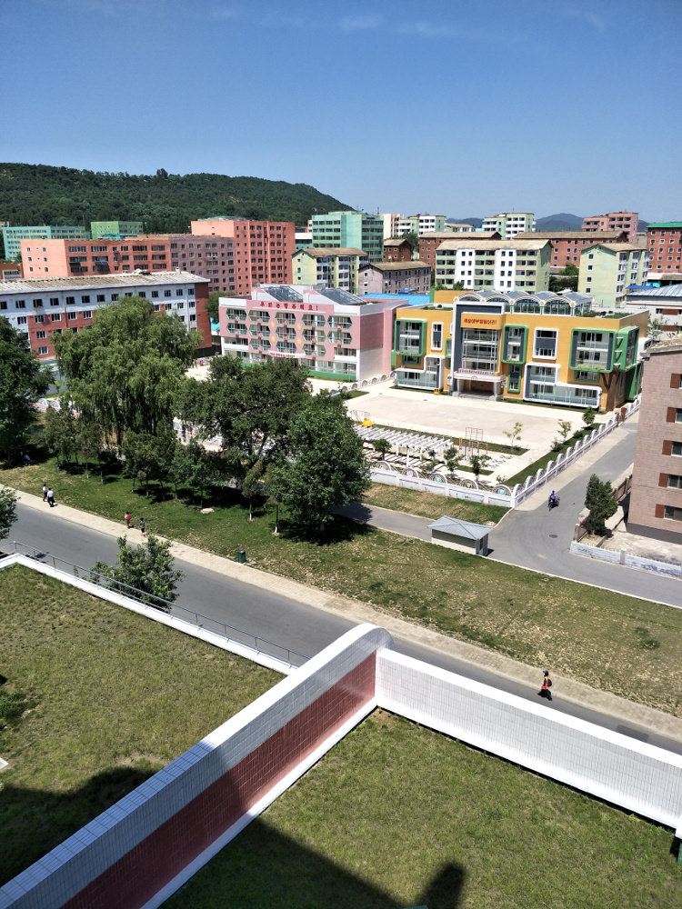 Kim Il Sung University Foreign Student Dormitory View 09