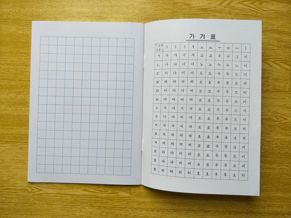 Mindulle Elementary School Notebook Korean Characters