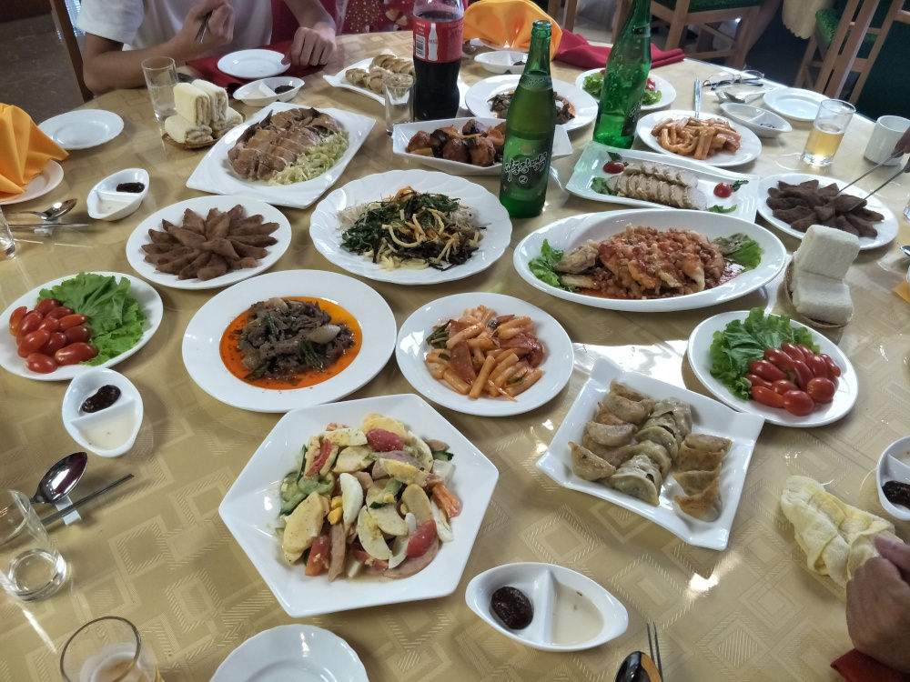 National Day Lunch Banquet Kim Il Sung University Foreign Student Dormitory