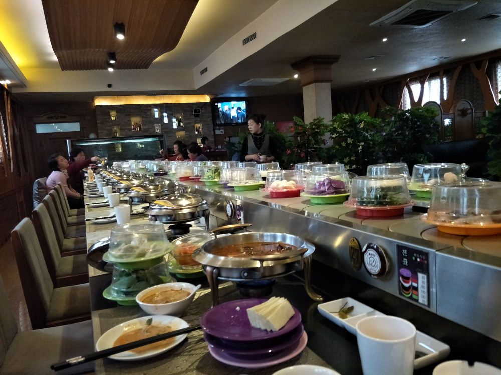 Conveyor Belt Hot Pot Restaurant