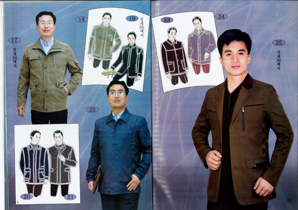 North Korean men's fashion outwear