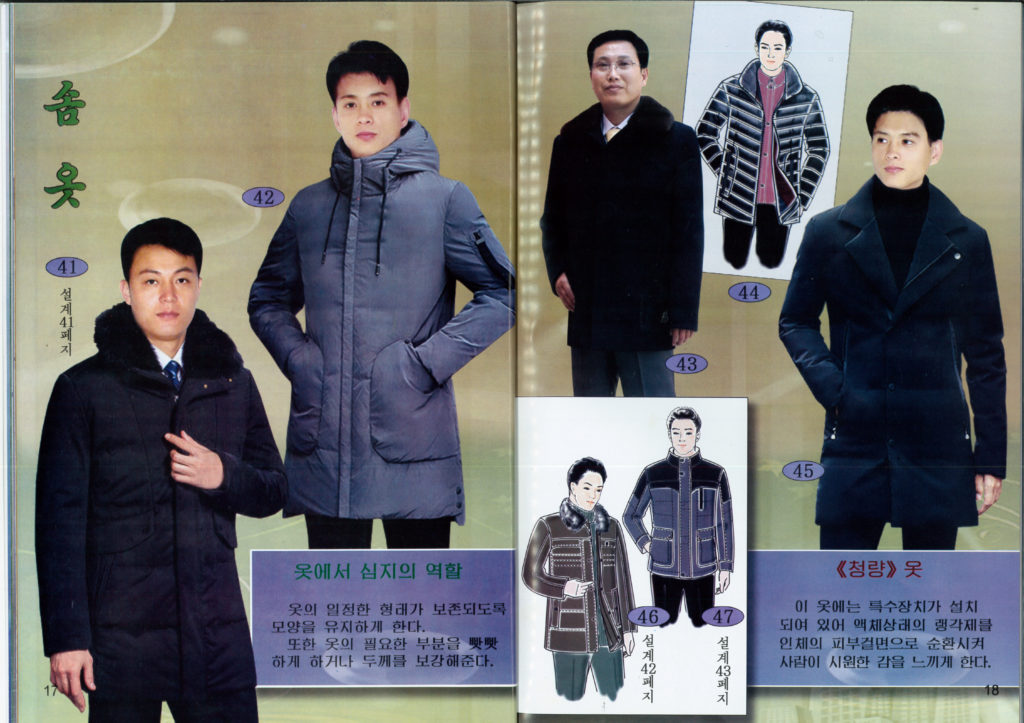 North Korea men's fashion puffy coats