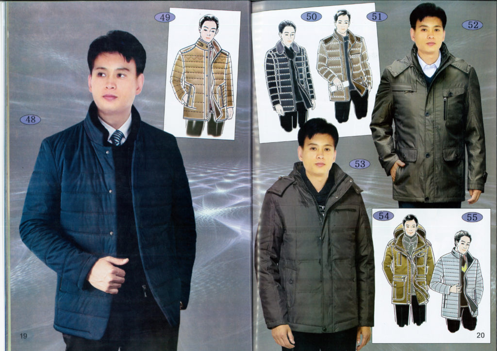 North Korea men's fashion padded coats