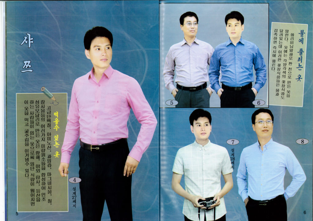 North Korea men's fashion shirts
